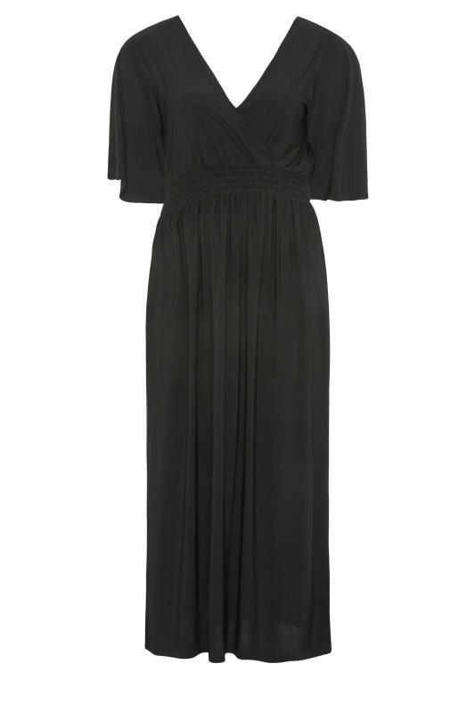 YOURS LONDON Black Wrap Midaxi Dress_F.jpg