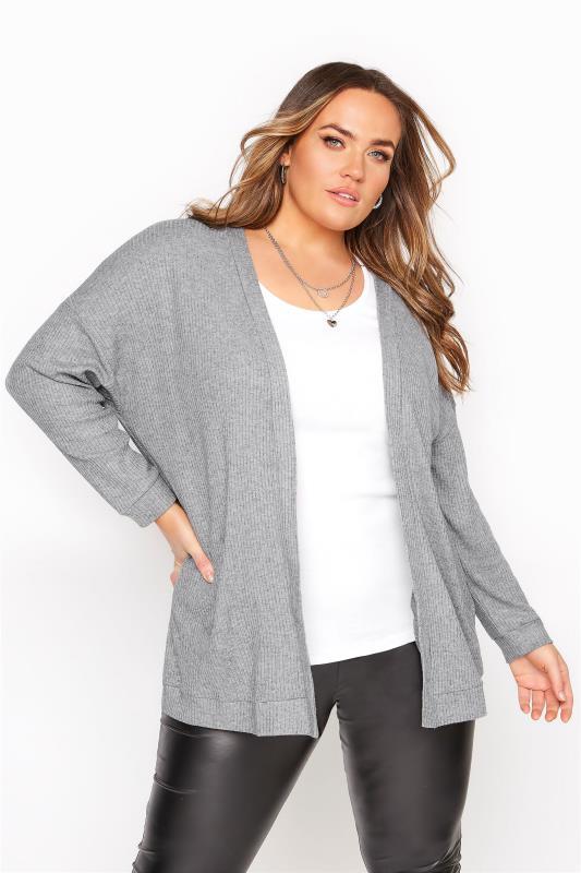 Grey Soft Touch Cardigan