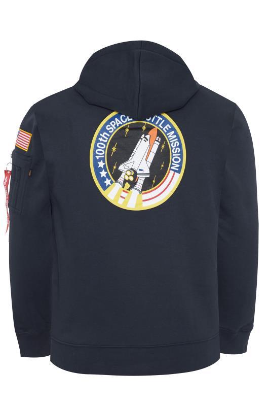 ALPHA INDUSTRIES Navy NASA Space Shuttle Hoodie