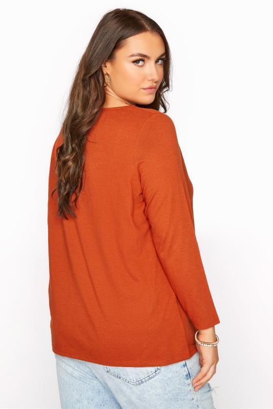 Burnt Orange Scoop Neck T-Shirt_C.jpg