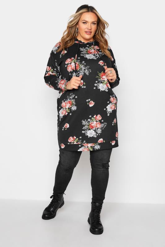 Black Floral Print Hoodie Dress_B.jpg