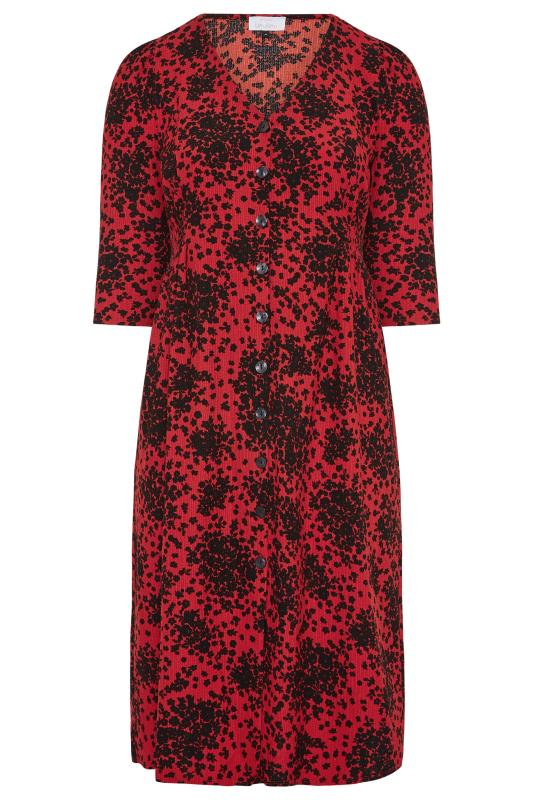 YOURS LONDON Red Ditsy Button Dress_F.jpg