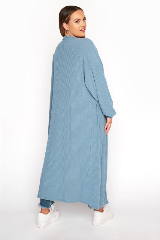 LIMITED COLLECTION Denim Blue Long Cardigan_C.jpg