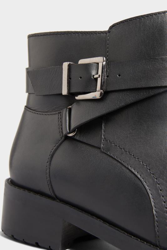 Black Leather Buckle Ankle Boots In Extra Wide Fit_D.jpg