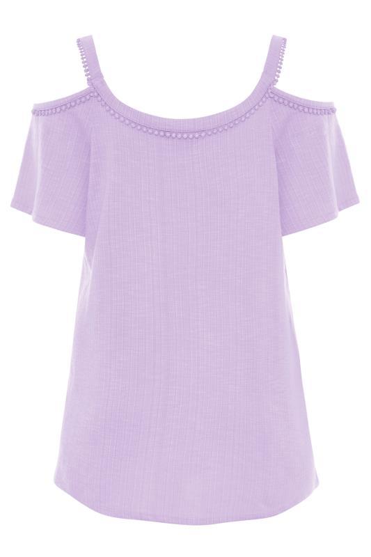 Lilac Cold Shoulder Strap T-Shirt_BK.jpg