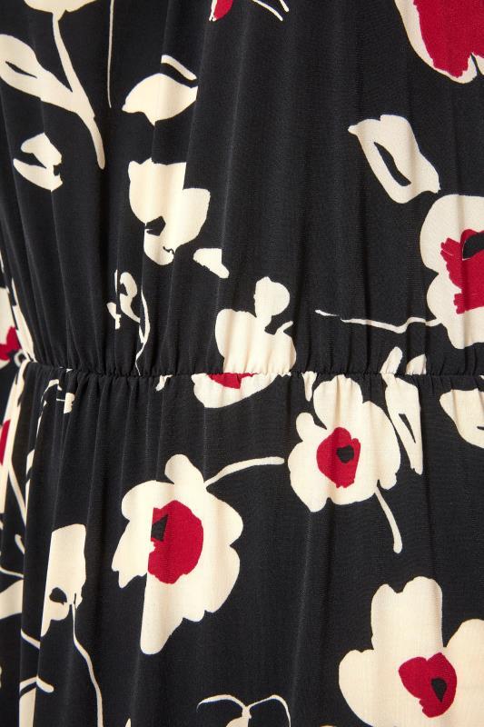 Black Floral Print Cold Shoulder Midaxi Dress_S.jpg