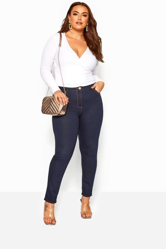 Plus Size Skinny Jeans Indigo Blue Skinny Jeans