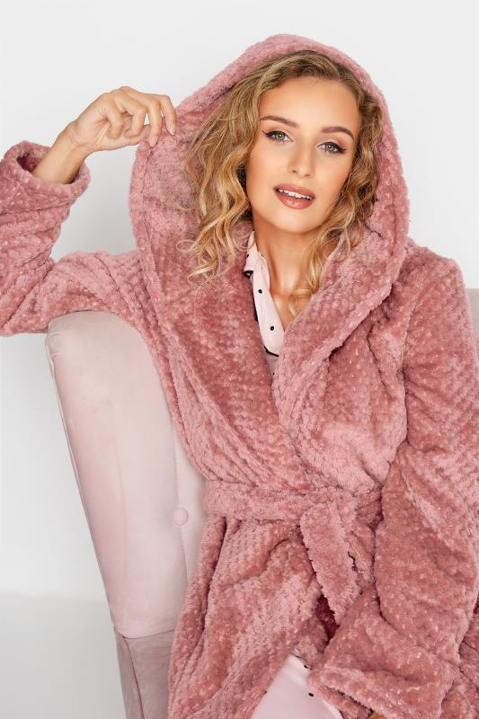 LTS Pink Waffle Hooded Dressing Gown_D.jpg