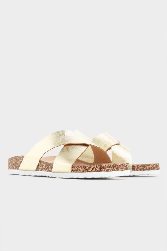 Gold Cross Strap Sandals In Extra Wide Fit_B.jpg