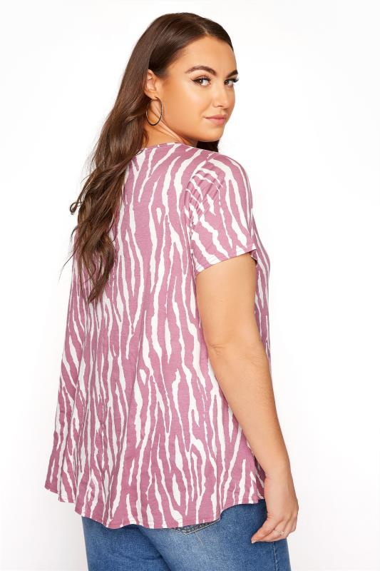 LIMITED COLLECTION Pink Zebra Print Swing Top_C.jpg