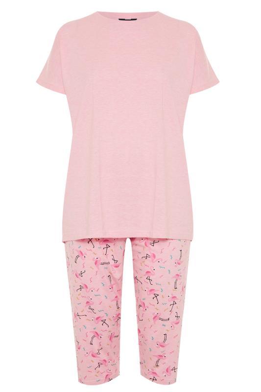 Pink Flamingo Printed Cropped Pyjama Set_F.jpg