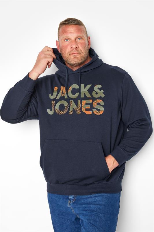 JACK & JONES Navy Logo Hoodie_M.jpg