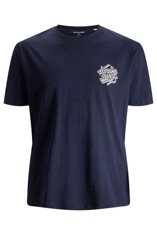 Plus Size  JACK & JONES Navy T-Shirt