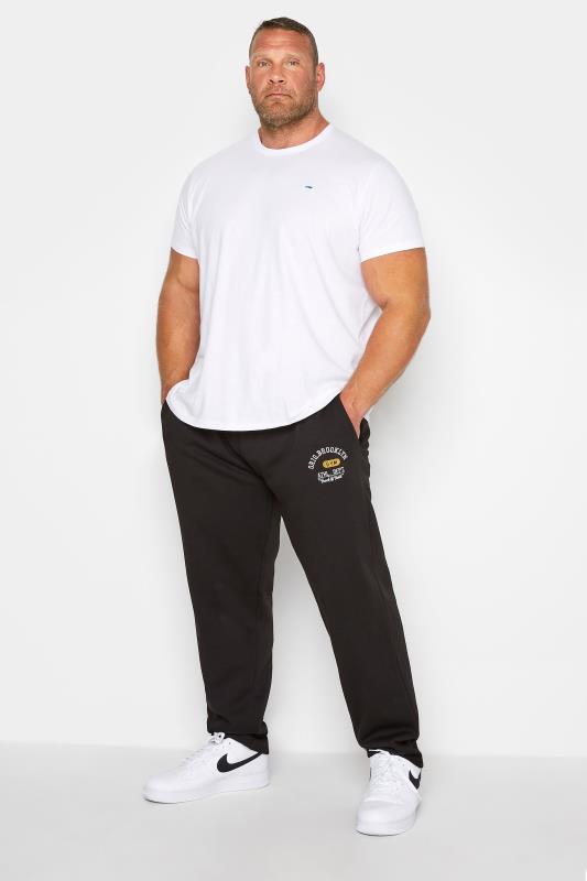 Plus Size  D555 Black Printed Pocket Joggers