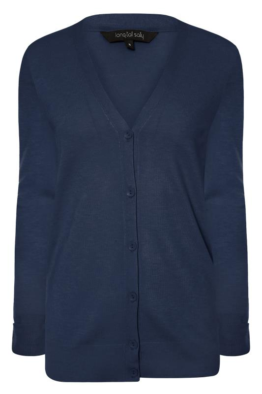 Navy Buttoned Knitted Cardigan_F.jpg