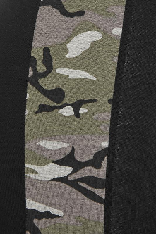LIMITED COLLECTION Black Camo Side Panel Leggings_D.jpg