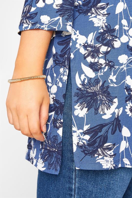 Blue Floral Split Hem Tunic_D.jpg