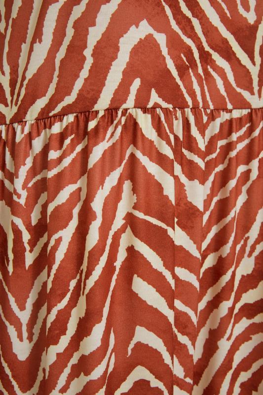 LTS Rust Zebra Print Tiered Midaxi Dress_S.jpg