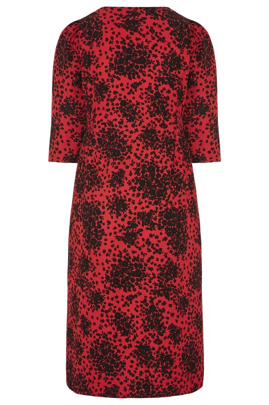 YOURS LONDON Red Ditsy Button Dress_BK.jpg