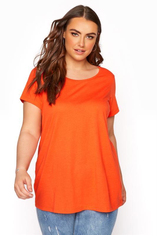 Plus Size  Bright Orange T-Shirt