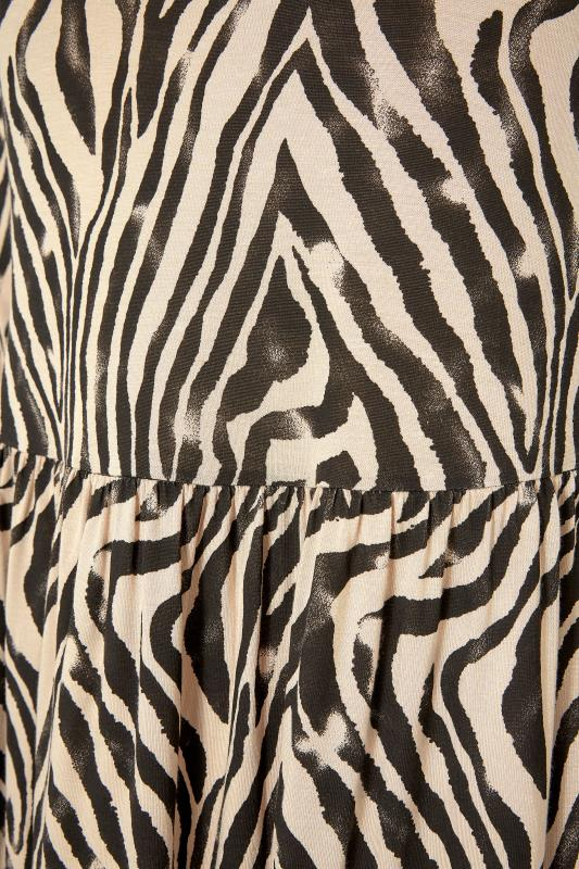 LIMITED COLLECTION Beige Zebra Print Smock Midaxi Dress_S.jpg
