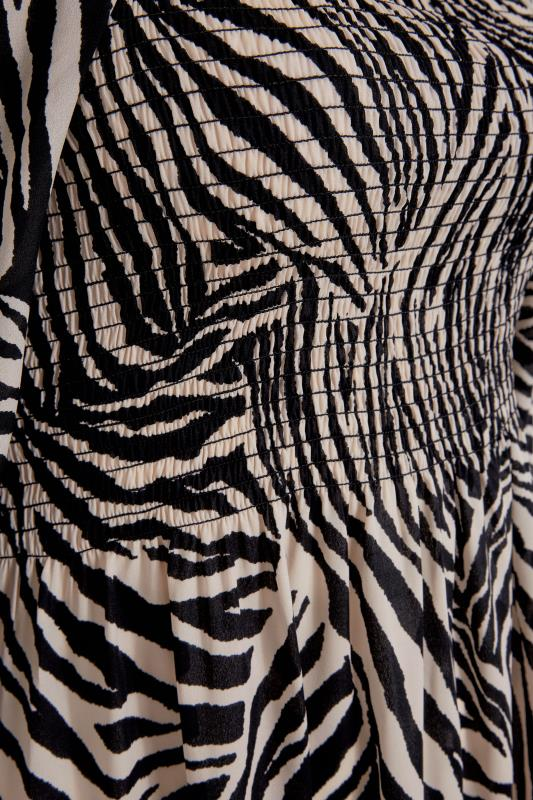 YOURS LONDON Black Zebra Print Shirred Front Midaxi Dress_S.jpg
