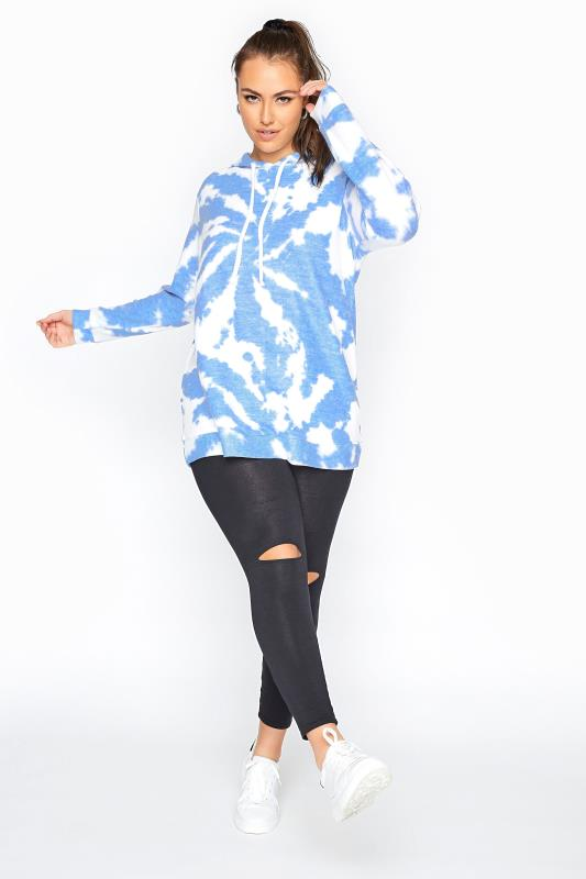 Blue Soft Touch Tie Dye Hoodie