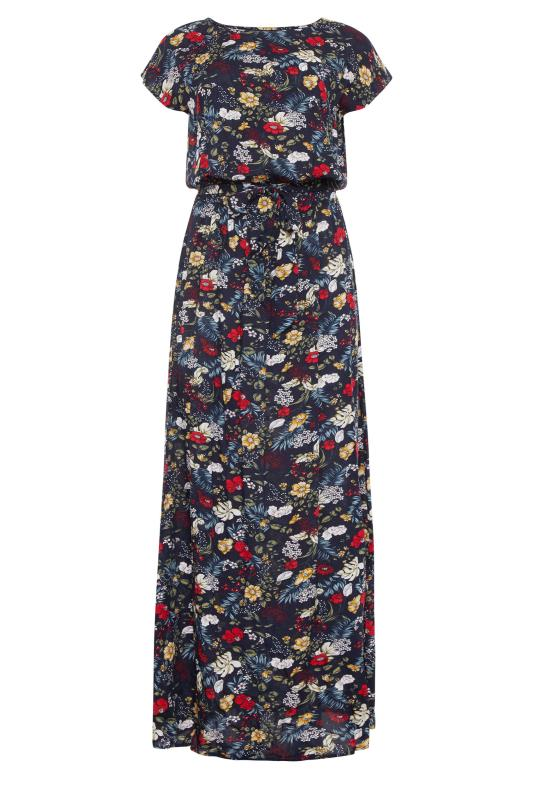 LTS Navy Floral Tie Back Maxi Dress_F.jpg