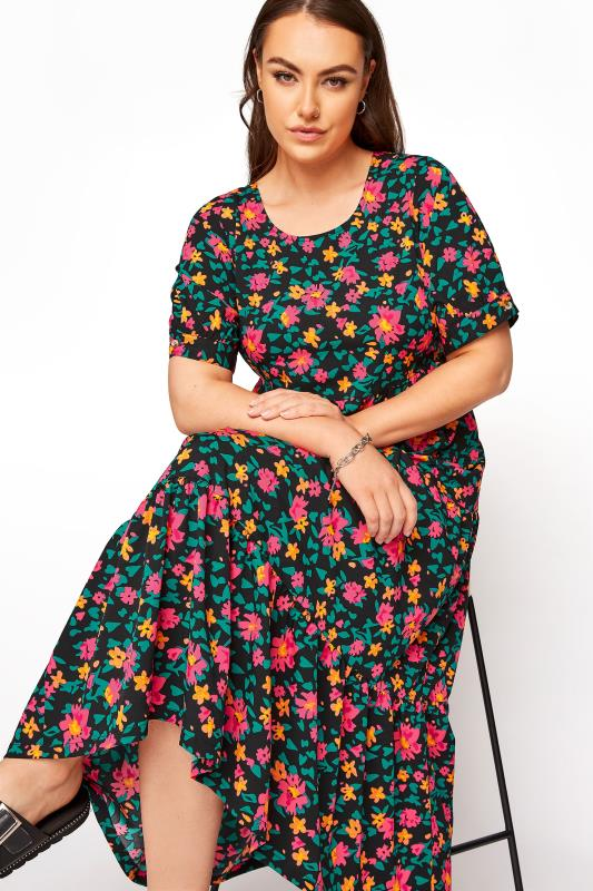 LIMITED COLLECTION Black Floral Tiered Maxi Dress_D.jpg