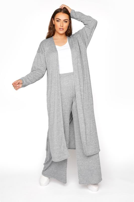 LIMITED COLLECTION Grey Longline Lounge Cardigan