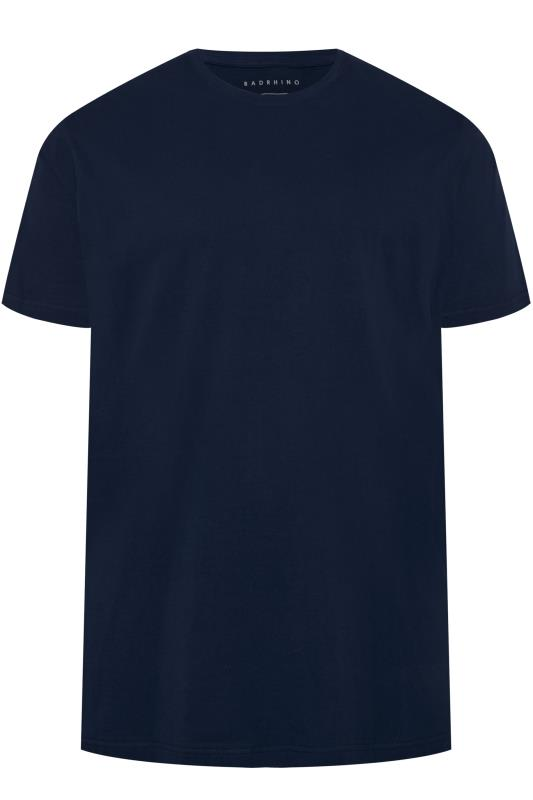 Men's Casual / Every Day BadRhino Navy Embroidered Logo T-Shirt