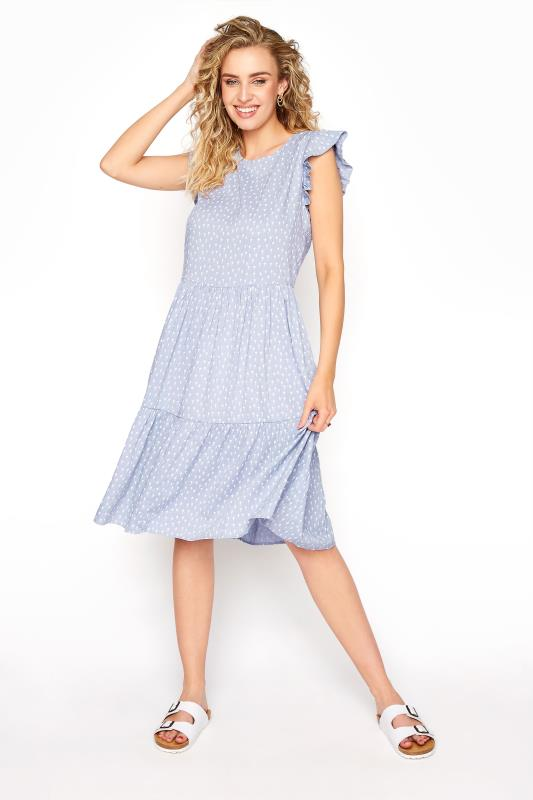 LTS Blue Tiered Frill Sleeve Tunic_A.jpg