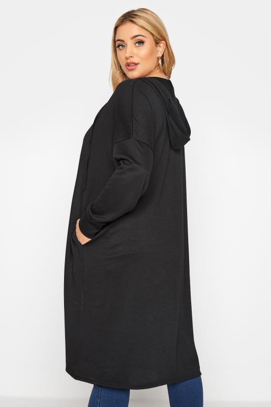 Black Hooded Knitted Cardigan_C.jpg