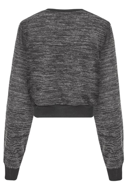 LTS Grey Marl Cropped Co-ord Top