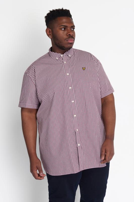 LYLE & SCOTT Burgundy Check Short Sleeve Shirt