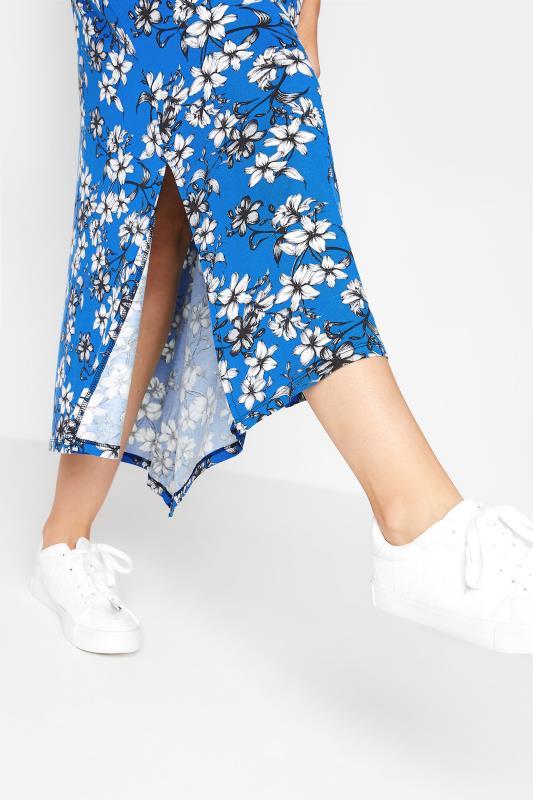 LTS Blue Floral Print V-Neck Midi Dress_D.jpg