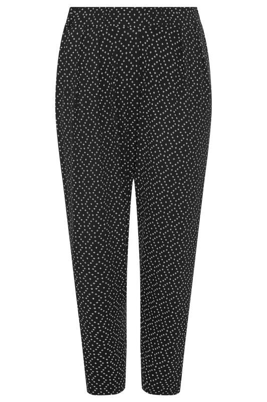 Black Diamond Print Harem Trousers_F.jpg