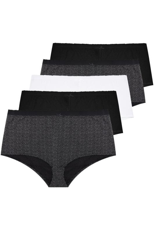 5 PACK Black Polka Dot Shorts