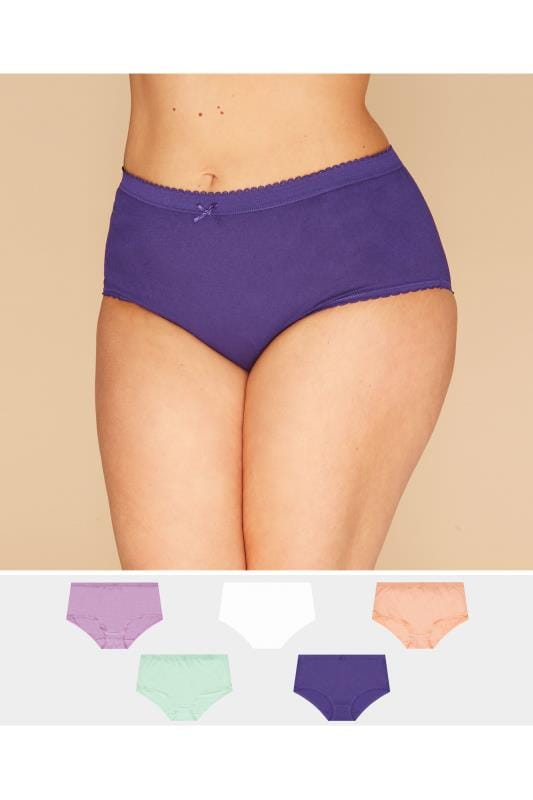 Plus Size Briefs 5 PACK Assorted Full Briefs