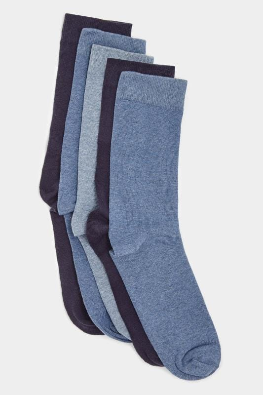 5 PACK BadRhino Plain Blue Socks