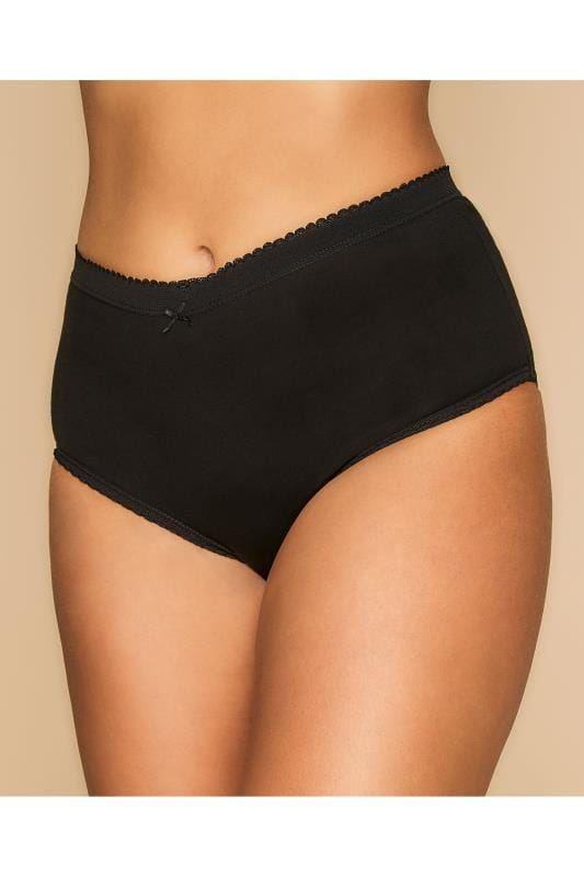 5 PACK Black, White and Nude Full Briefs