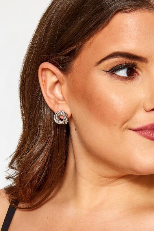 Plus Size Jewellery Tallas Grandes 5 PACK Silver Stud & Hoop Earrings Set