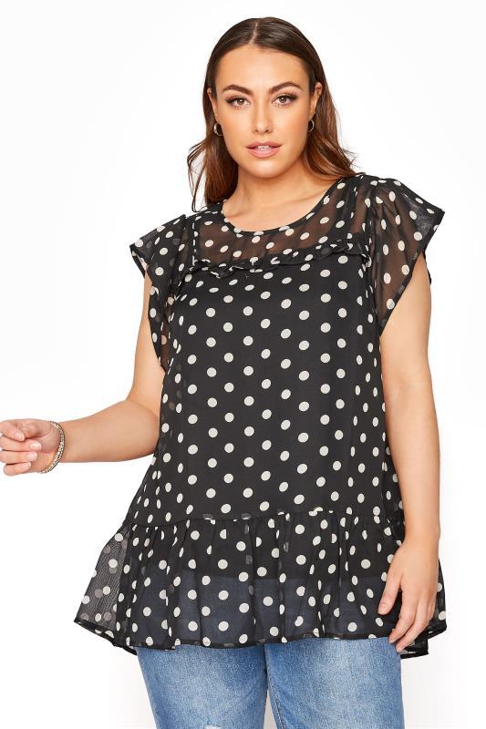 Black Polka Dot Frill Hem Tunic_A.jpg