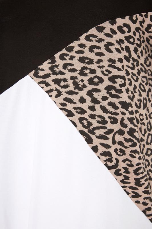 LIMITED COLLECTION Black Leopard Print Colour Block T-Shirt_S.jpg