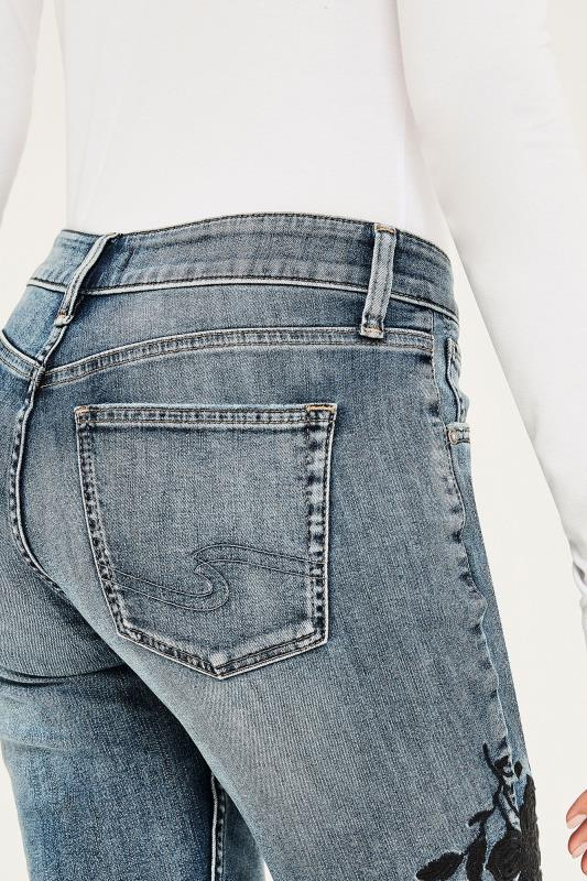 """SILVER Grey Washed """"Avery"""" Skinny Jeans"""