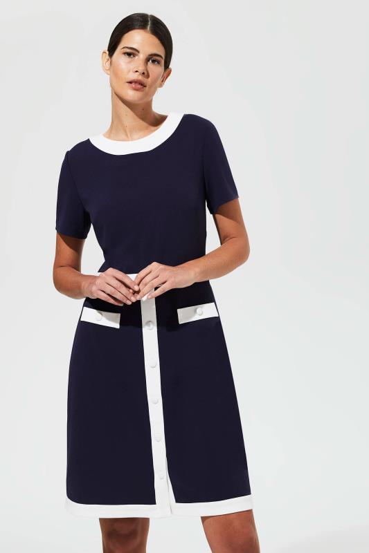 Karl Lagerfeld Paris Navy Colour Block Dress