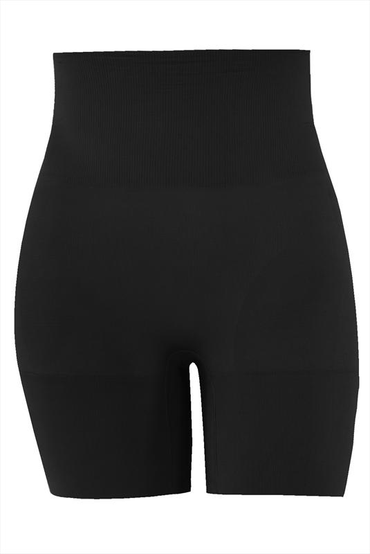 Firm control black seamfree shaper short plus size 16 to 32 | Yours Clothing