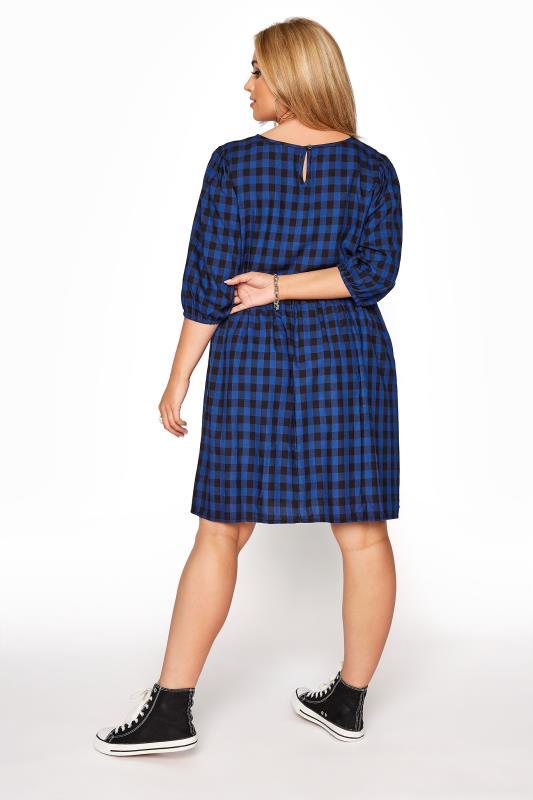 Cobalt Blue Gingham Peplum Dress_C.jpg