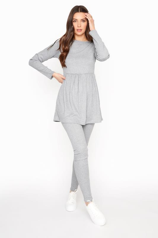 LTS Grey Ribbed Co-ord Leggings