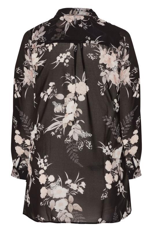 LTS Black Floral Longline Chiffon Shirt_BK.jpg